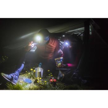Couvert pliant trekking (fourchette / cuillère) - TREK 500 plastique bleu
