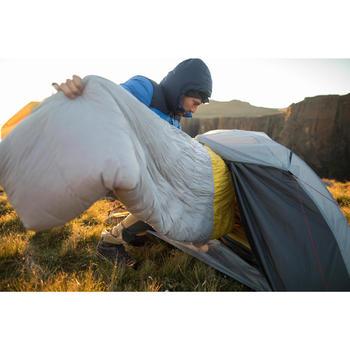 Saco Dormir Plumas Montaña Trekking Forclaz Trek900 0° Amarillo