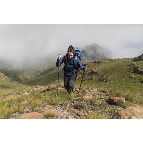 0790cfe52e9f6 Veste softshell trekking montagne TREK900 WINDWARM femme bleu. Previous.  Next