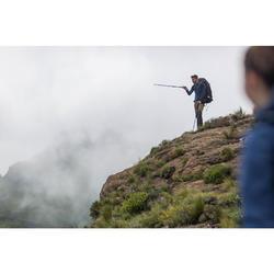 Camiseta de manga larga trekking montaña TREK 900 lana merina hombre marrón