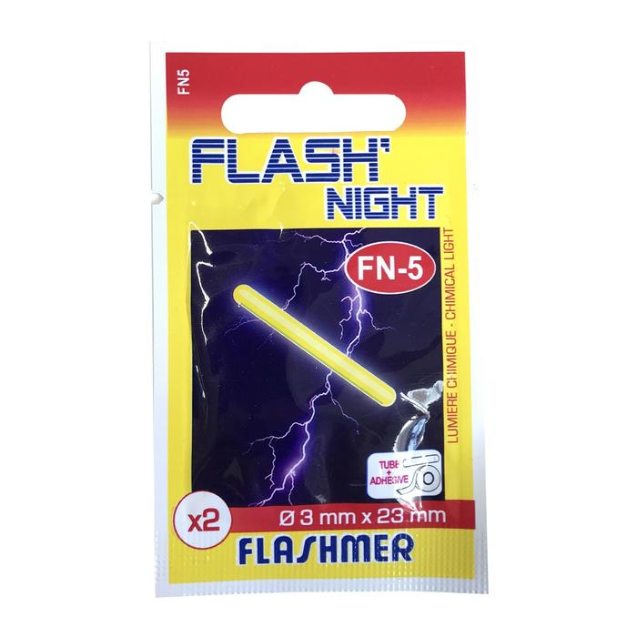 Breekstaafje Flash night 3 mm x2 strandhengelen