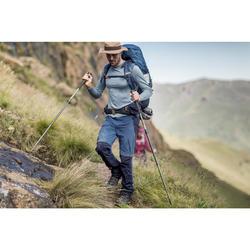 Afritsbroek voor bergtrekking Trek 500 heren blauw
