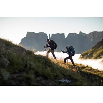 Camiseta de manga larga trekking montaña TREK 900 lana merina hombre azul