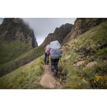 Regenbroek voor bergtrekking dames Trek 500 donkergrijs