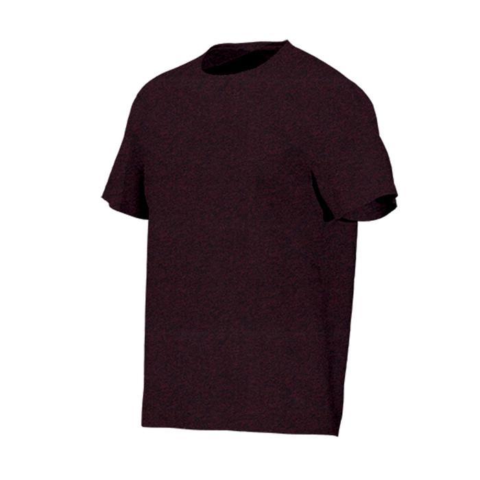 T-Shirt 500 Regular Gym & Pilates Herren bordeauxrot meliert
