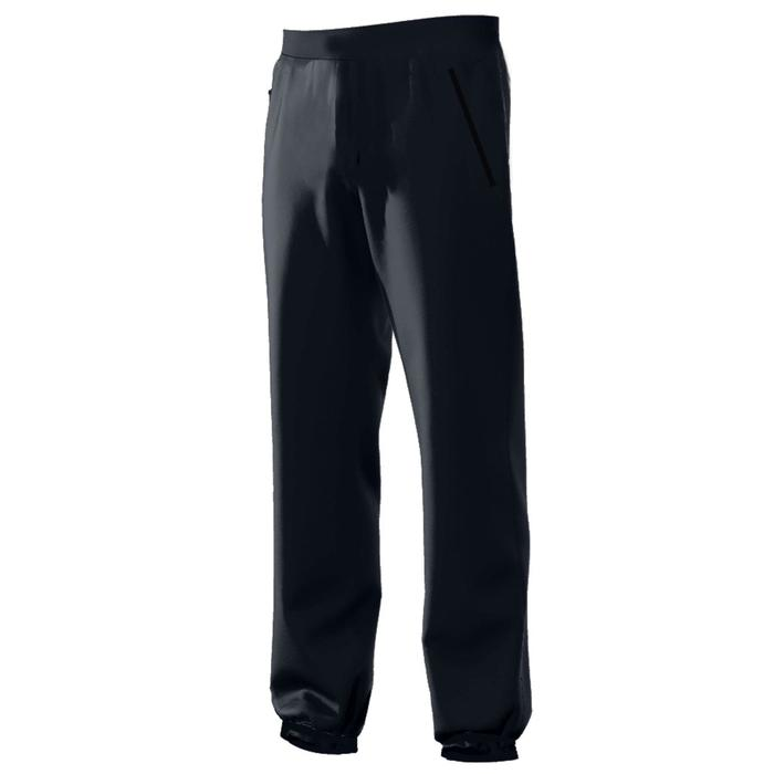 Jogginghose 500 Regular Zip Pilates sanfte Gymnastik Herren blau