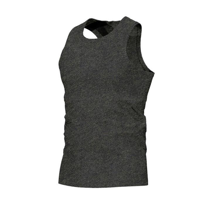 Camiseta sin mangas 500 de Pilates y Gimnasia suave hombre caqui
