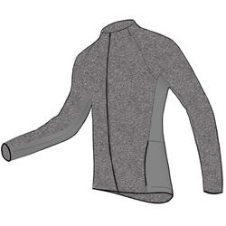 500 Hooded Gentle Gym & Pilates Jacket - Light Mottled Grey