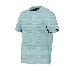 500 Regular-Fit Pilates & Gentle Gym T-Shirt - Light Blue