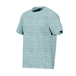 標準剪裁皮拉提斯與溫和健身T恤500 - 淺藍色