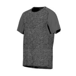 T-shirt voor pilates/lichte gym heren 520 regular fit gemêleerd lichtgrijs