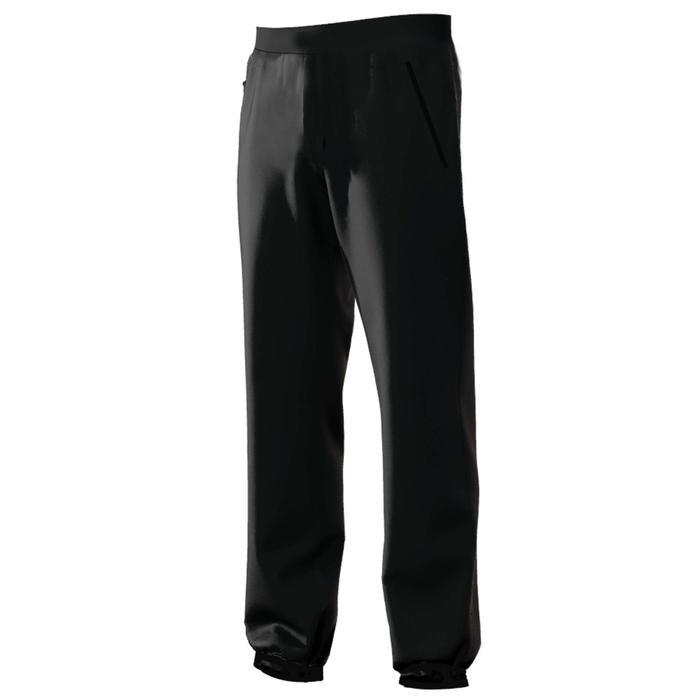 Jogginghose 500 Regular Zip Pilates sanfte Gymnastik Herren schwarz