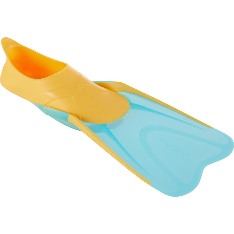 SNK 500 JR Snorkelling Fins Orange turquoise