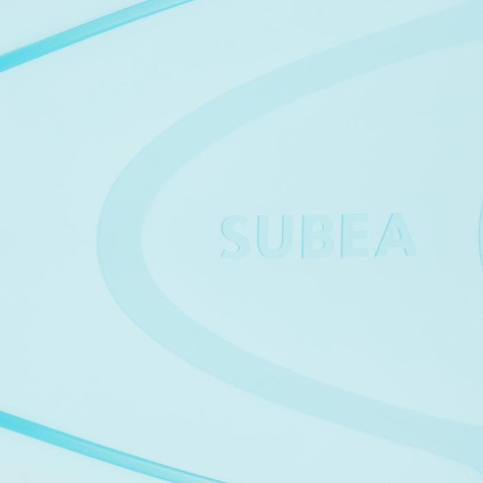 Snorkelvinnen SNK 500 voor kinderen oranje turquoise