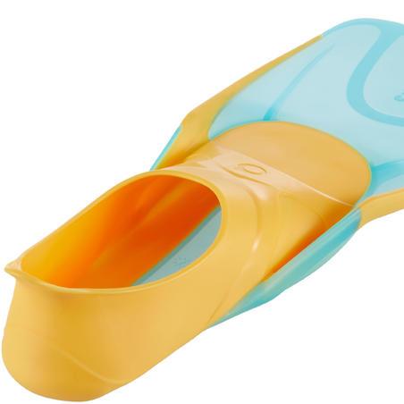 """Bērnu snorkelēšanas pleznas """"SNR 500"""", oranžas/tirkīza"""