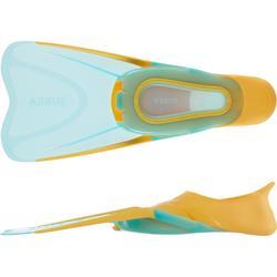 Barbatanas de Snorkeling Criança SNK 500 Laranja Turquesa