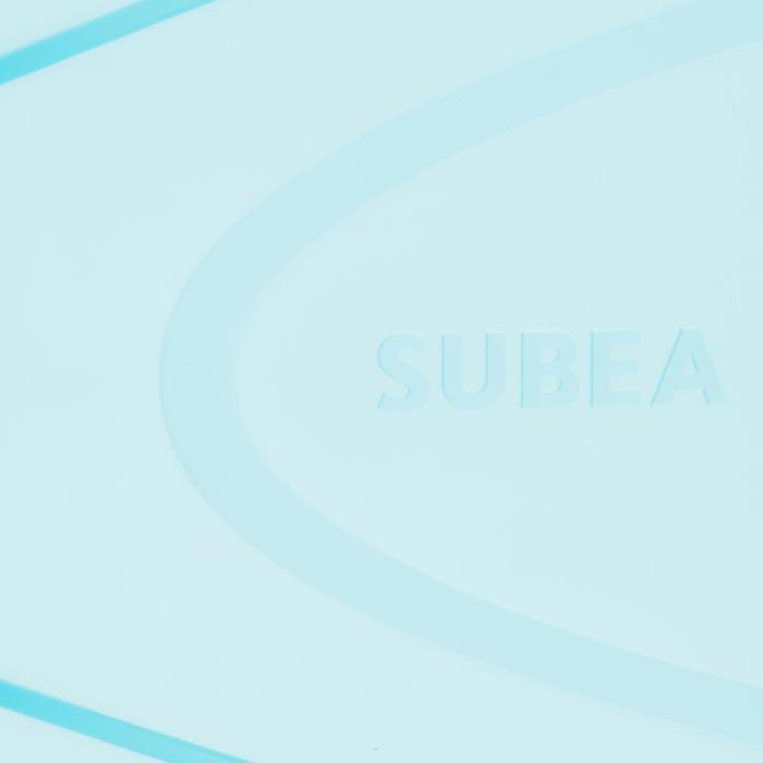 Barbatanas de Snorkeling Criança SNK 500 Rosa Turquesa