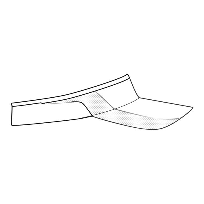 Verstelbare hardloopzonneklep Wit Hoofdomtrek 50 tot 62 cm heren dames