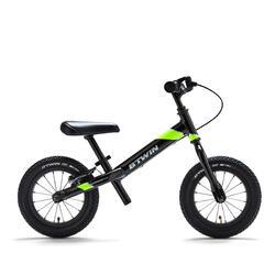 """Bici senza pedali bambino RUNRIDE 900 MTB nero-giallo 12"""""""