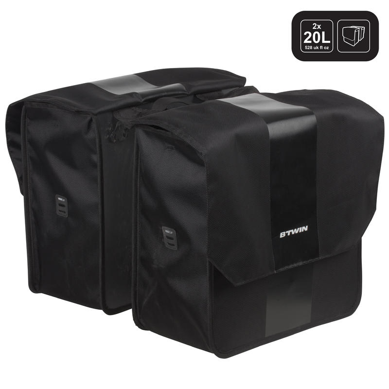 500 Double Bag 2 x 20L - Black