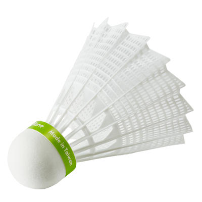 PLASTIC SHUTTLECOCK PSC 100 x1 Single-Pack - White