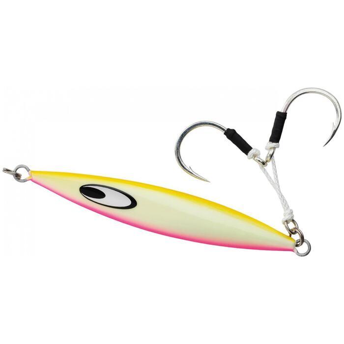 Kunstaas Jig Saltiga SK 110 g Glow Pink voor vissen op zee