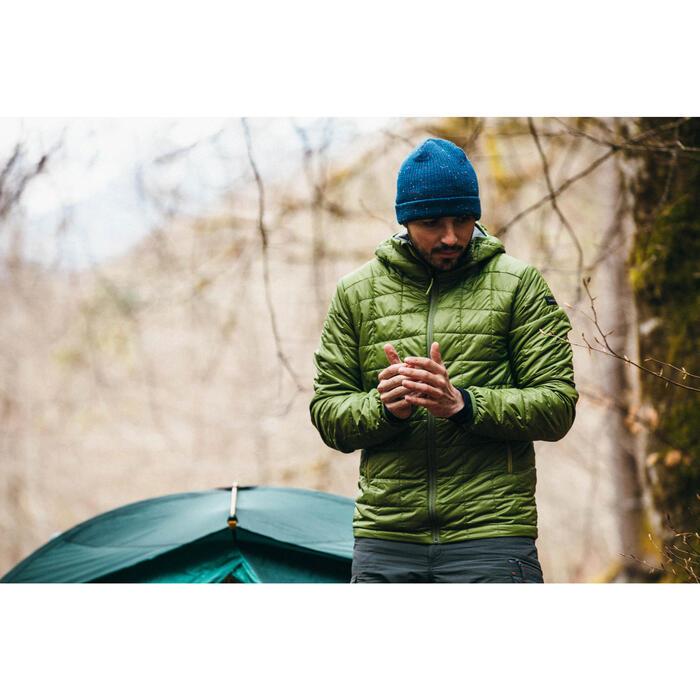 Wattierte Jacke Trek 100 mit Kapuze Herren grün