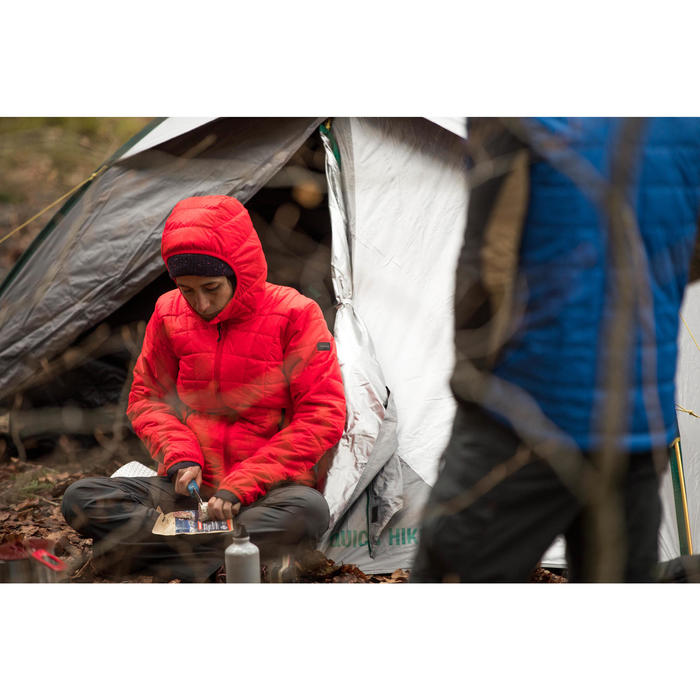 Wattierte Jacke Trek 100 mit Kapuze Damen rot