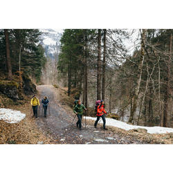 Doudoune de trek montagne | TREK 100 CAPUCHE jaune homme