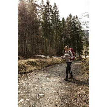 Chaqueta Acolchada de Montaña y Trekking Forclaz TREK 100 Mujer Gris