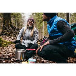 Doudoune trekking montagne TREK 100 femme gris