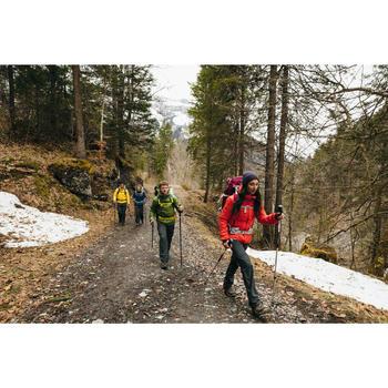 Chaqueta Acolchada de Montaña y Trekking Forclaz TREK 100 Mujer Negro Capucha
