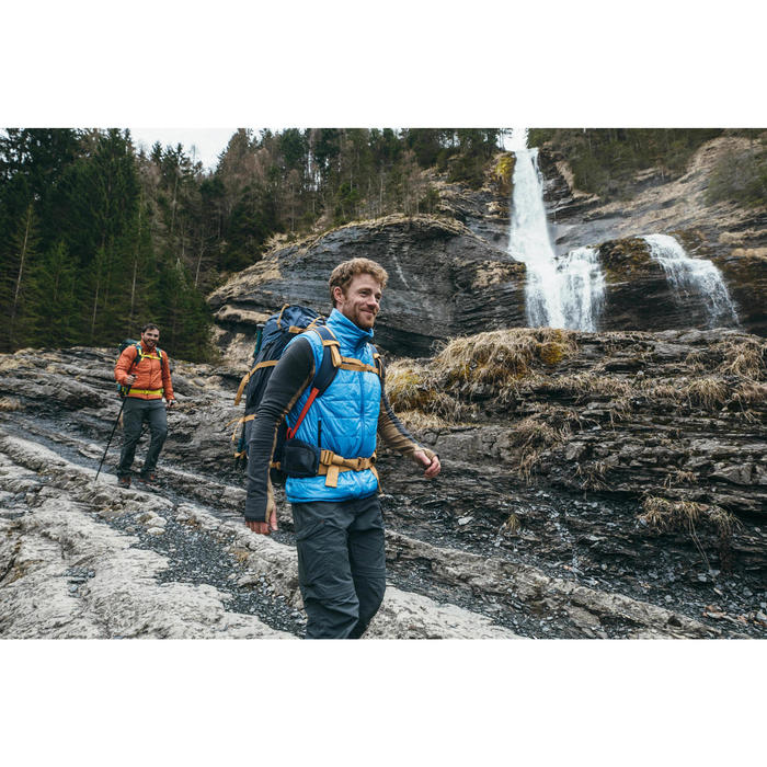 Chaleco acolchado trekking en montaña TREK 100 hombre negro