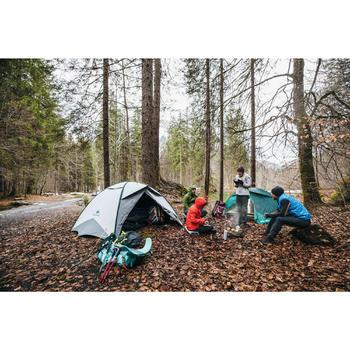 Women's Mountain trekking padded jacket Trek 100 - Grey