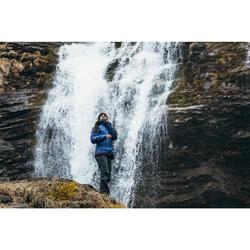 Chaqueta Acolchada de Montaña y Trekking Forclaz TREK 100 Mujer Azul Capucha