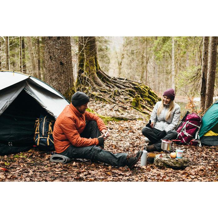 Doudoune trekking montagne TREK100 femme gris