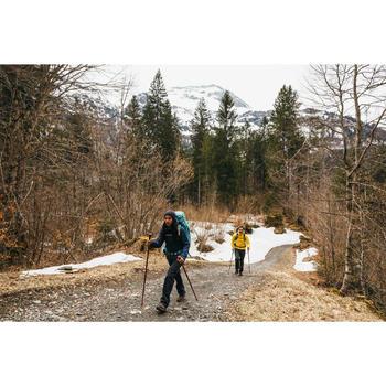 Chaqueta acolchada trekking en montaña TREK 100 CAPUCHA hombre amarillo