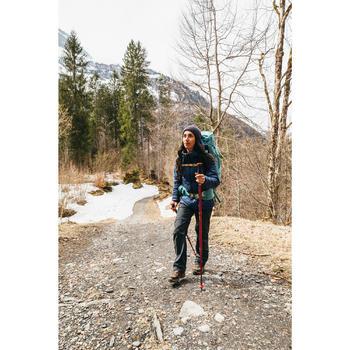 Pantalon modulable trekking montagne TREK 100 femme gris foncé