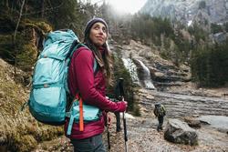 Mountain TREKKING TREK 100 Women's Padded Vest, Black