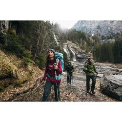 Pantalon modulable trekking montagne TREK100 femme gris foncé