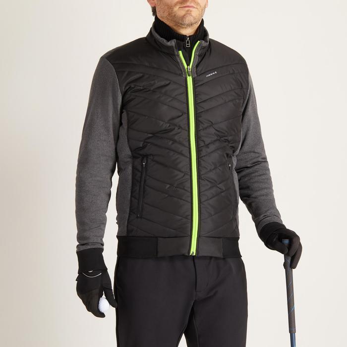Gewatteerde golfjas voor heren, koud weer, zwart