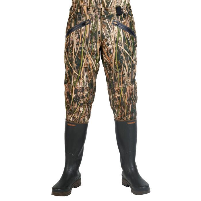 Jagdhose 500 warm und wasserdicht Camouflage Schilf