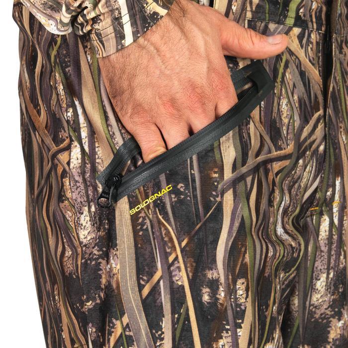 Pantalon chasse chaud et imperméable 500 camouflage marais