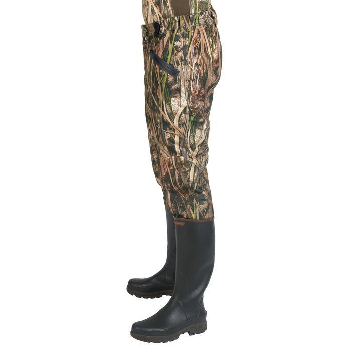 Pantalón Caza Solognac Wf 500 Cálido Camuflaje Marismas