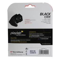Tennisbesnaring Black Code 1,24 mm monofilament zwart