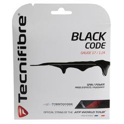Tennissnaar Black Code 1,24mm 12m