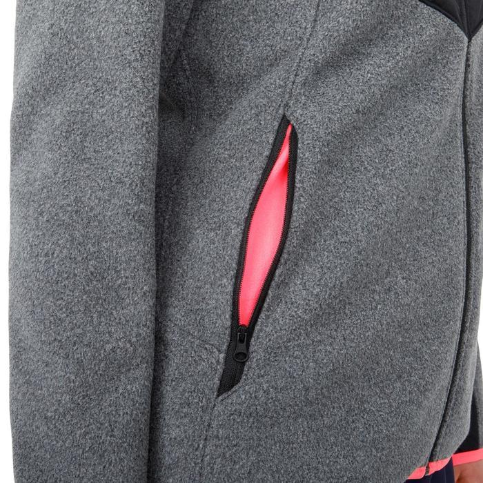 Warme damesfleece Inshore 900 voor zeilen grijs zwart