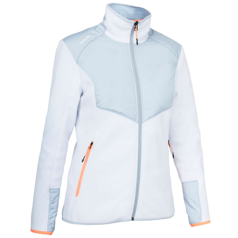 CRUISING COLD WEATHER WOMAN CLOTHES Sailing - Inshore900 W Fleece Grey White TRIBORD - Sailing Clothing