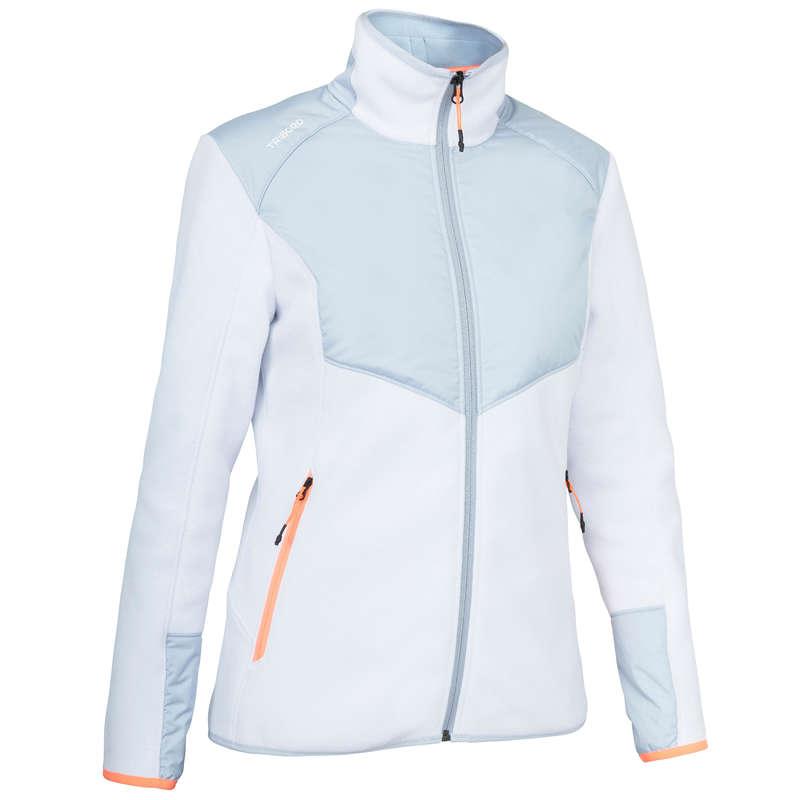 Abbigliamento crociera tempo freddo donna Sport Acquatici - Pile INSHORE900 grigio bianco TRIBORD - DONNA VELA