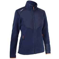 Fleecejacke Segeln Sailing 500 warm Damen marineblau